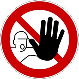Kunststof bord - Verboden toegang
