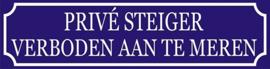 Kunststof bord - Privé steiger verboden aan te leggen