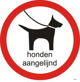 Kunststof bord - Honden Aangelijnd