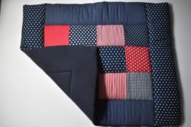 Boxkleed donkerblauw 80 x 100 cm of 75 x 95