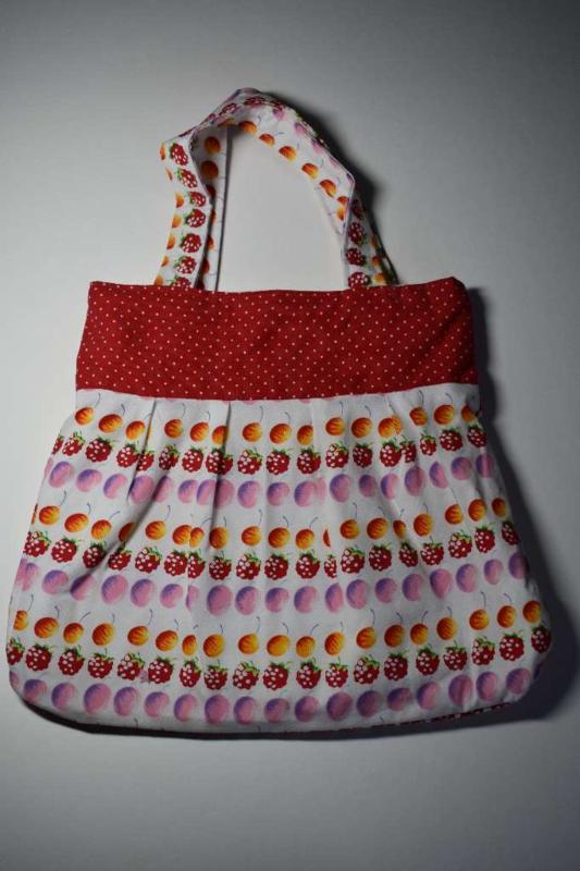 Meisjestas rood met fruit