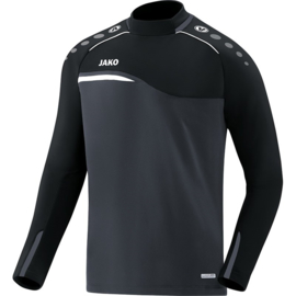 Sweater Competition 2.0 zwart-antraciet (met clublogo ramsdonk)