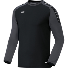 Jako Sweater Champ zwart-antraciet 8817/21