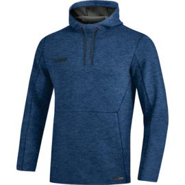JAKO Sweater met kap Premium Basics marine gemeleerd 6729/49