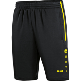 Trainingsshort Active  zwart- geel (8595/33)