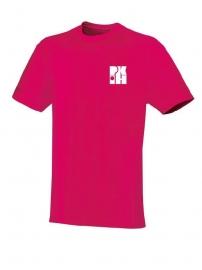 T-Shirt Team framboos met logo vooraan