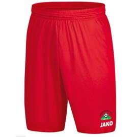 Short Manchester rood (met clublogo MINDERHOUT) ( 4400/01)
