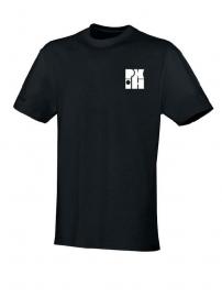 T-Shirt Team zwart met logo vooraan