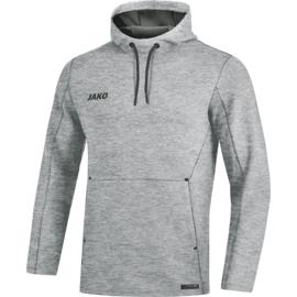JAKO Sweater met kap Premium Basics grijs gemeleerd 6729/40