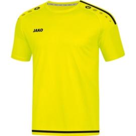 JAKO T-shirt/Shirt Striker 2.0 KM fluogeel-zwart 4219/33