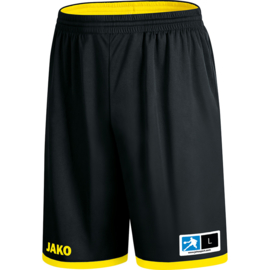 JAKO Reversible short Change 2.0 zwart-citroen 4451/03