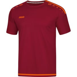 JAKO T-shirt/Maillot Striker 2.0 MC rouge vin-orange fluo 4219/13