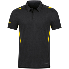 JAKO Polo Challenge zwart/citroen (6321/505)