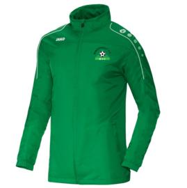 Regenjas Team sportgroen(met clublogo MINDERHOUT)(7401/06)