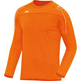 JAKO Sweat Classico fluo oranje 8850/19