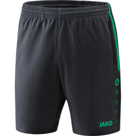 Jako Short Competition 2.0 antraciet-turkoois 6218/24
