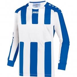 JAKO Shirt Milan LM wit/royal 4343/40