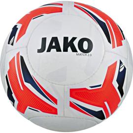 JAKO Wedstrijdbal Match 2.0 wit-flame-marine maat 5 (2328/00)