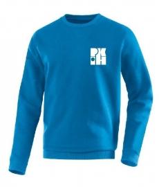 Sweater Team jako blauw met logo voor en achter