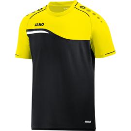 Jako T-shirt Competition 2.0 zwart-fluo geel 6118/03