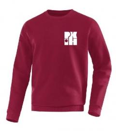 Sweater Team bordeau met logo voor en achter