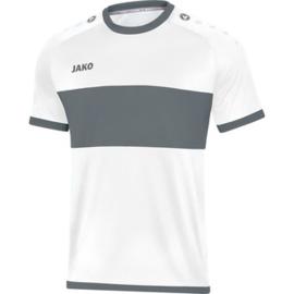 JAKO Shirt Boca KM wit-steengrijs 4213/40