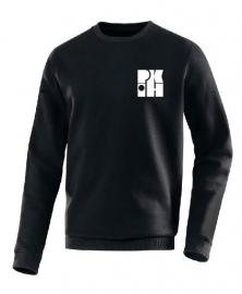 Sweater Team zwart met logo voor en achter