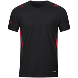 JAKO T-shirt Challenge zwart/rood (6121/502)