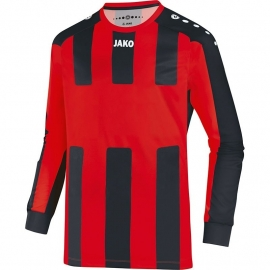 JAKO Shirt MIlan LM rood/zwart 4343/01