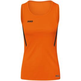 JAKO Tank top Challenge fluo oranje/zwart (6021/351)