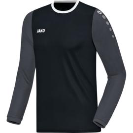 JAKO Shirt Leeds LM zwart-antraciet 4317/08