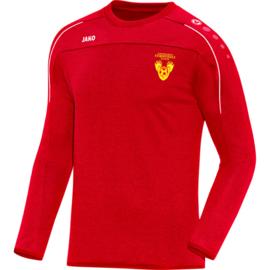 Sweater Classico rood (+ Clublogo)