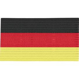 Brassard de capitaine noir, rouge et jaune 2807/85