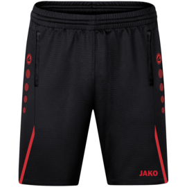 JAKO Traingsshort Challenge zwart/rood  (8521/812)