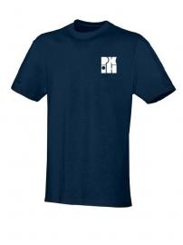 T-Shirt Team marine met logo vooraan