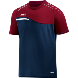 JAKO  T-shirt Competition 2.0 marine-donker rood 6118/09