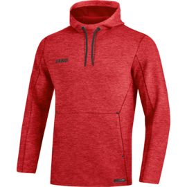 JAKO Sweater met kap Premium Bassics rood gemeleerd 6729/01