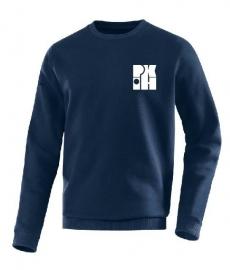 Sweater Team marine met logo voor en achter
