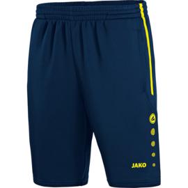 JAKO Short d'entraînement Active marine-jaune fluo 8595/89