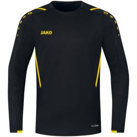 JAKO Sweater Challenge zwart/citroen  (8821/803)