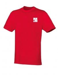 T-Shirt Team rood met logo vooraan