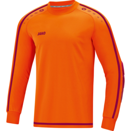 Jako Keepershirt Striker 2.0 fluo oranje-wijnrood 8905/19