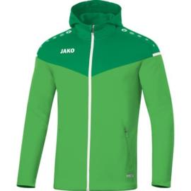 JAKO Jas met kap Champ 2.0 groen  6820/22 (NEW)