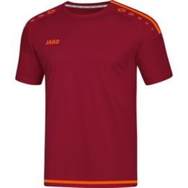 JAKO T-shirt/Shirt Striker 2.0 KM wijnrood-fluo oranje 4219/13