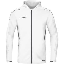 JAKO Jas met kap Challenge wit/antraciet (6821/002)