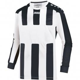 JAKO Shirt Milan LM wit/zwart 4343/08