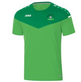 T-shirt champ 2.0 groen (met clublogo MINDERHOUT) (6120/22)