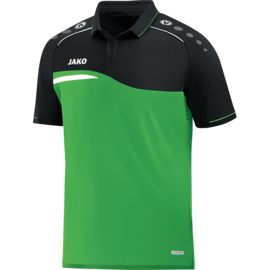 Jako Polo Competition 2.0 soft groen-zwart 6318/22