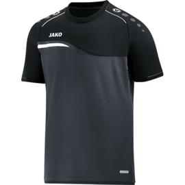 T-shirt Competition 2.0 Zwart-antraciet (met clublogo Ramsdonk)