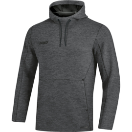 JAKO Sweater met kap Premium Bassics antraciet gemeleerd 6729/21